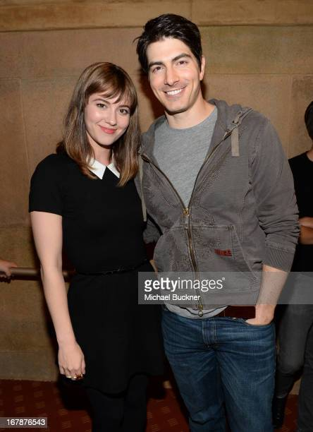 Actress Mary Elizabeth Winstead and actor Brandon Routh attend the screening of 'Scott Pilgrim Vs. The World' during the Entertainment Weekly...