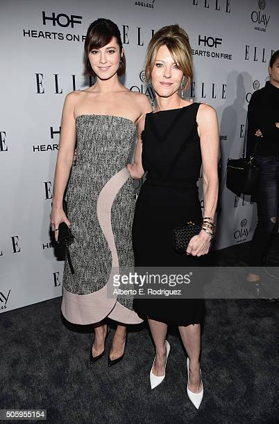 Actress Mary Elizabeth Winstead and Elle editorinchief Robbie Myers attend ELLE's 6th Annual Women in Television Dinner Presented by Hearts on Fire...