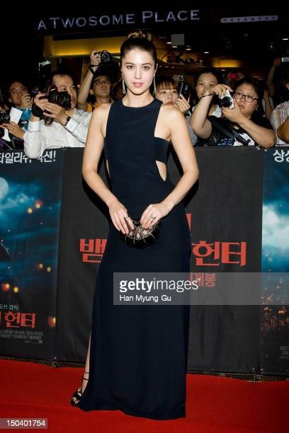 Actress Mary Elizabeth Winstead attends the 'Abraham Lincoln Vampire Hunter' Seoul premiere at Yeongdeungpo CGV on August 16 2012 in Seoul South...