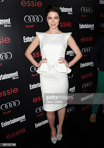 Actress Mary Elizabeth Winstead attends the Entertainment Weekly Screen Actors Guild Awards preparty at Chateau Marmont on January 26 2013 in Los...