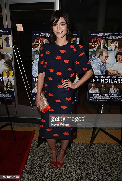 """Actress Mary Elizabeth Winstead attends the premiere of Sony Pictures Classics' """"The Hollars"""" at Linwood Dunn Theater on August 22, 2016 in Los..."""