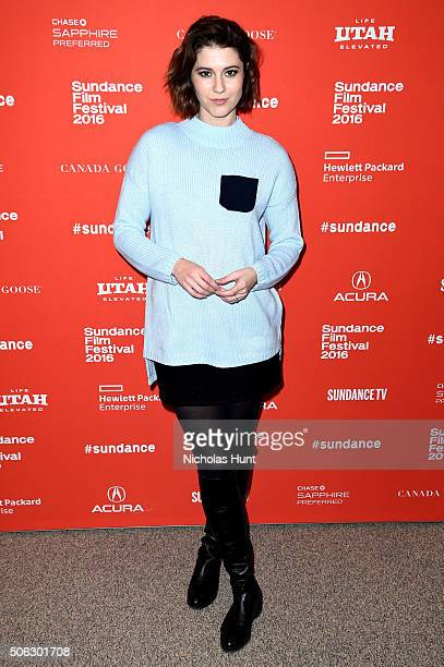 """Actress Mary Elizabeth Winstead attends the """"Swiss Army Man"""" Premiere during the 2016 Sundance Film Festival at Eccles Center Theatre on January 22,..."""