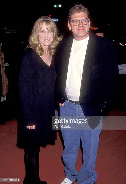 Actress Mary Ellen Trainor and Director Robert Zemeckis attend the Greedy Westwood Premiere on February 22 1994 at Mann Bruin Theatre in Westwood...