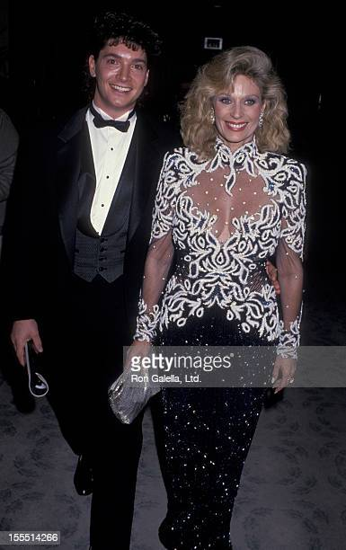Actress Mary Frann and Dr Bruce Hensel attend 46th Annual Golden Globe Awards on January 28 1989 at the Beverly Hilton Hotel in Beverly Hills...