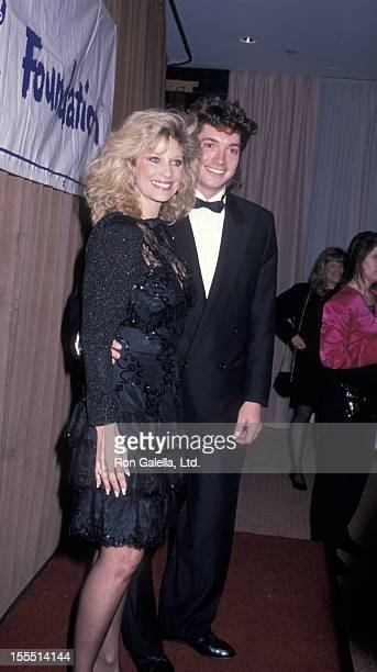 Actress Mary Frann and Dr Bruce Hensel attend Starlight Foundation Awards Gala on February 23 1989 at the Waldorf Hotel in New York City