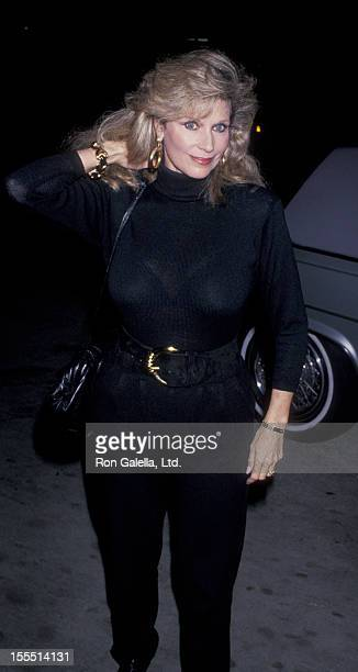 Actress Mary Frann attends Eva Gabor Portrait Exhibit on October 26 1989 at Makk Galleries in Los Angeles California