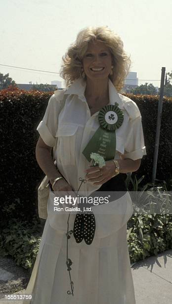 Actress Mary Frann attends First Annual St Patrick's Day Parade on March 17 1985 at Jimmy's Restaurant in Beverly Hills California