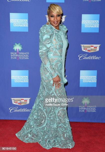 Actress Mary J Blige attends the 29th Annual Palm Springs International Film Festival Awards Gala at Palm Springs Convention Center on January 2 2018...