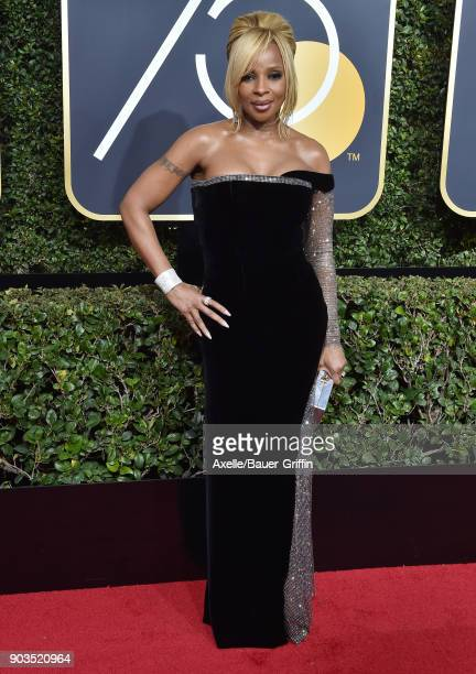 Actress Mary J Blige attends the 75th Annual Golden Globe Awards at The Beverly Hilton Hotel on January 7 2018 in Beverly Hills California