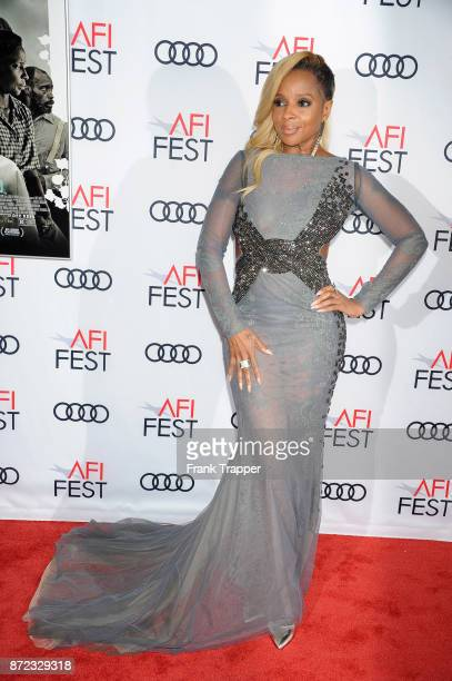 Actress Mary J Blige attends the screening of Netflix's Mudbound at the Opening Night Gala of AFI FEST 2017 Presented By Audi at TCL Chinese Theatre...