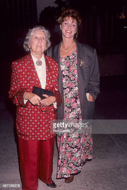 Actress Mary Jackson and actress Kim Lankford attends a Special Performance of the Musical City of Angels to Benefit the Actors Fund of America on...