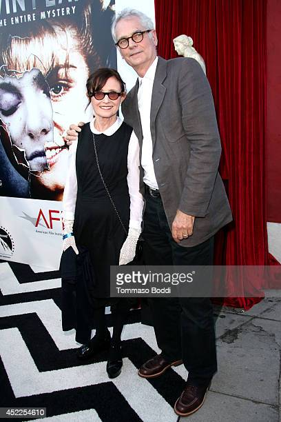 Actress Mary Jo Deschanel and director Caleb Deschanel attend the Twin Peaks The Entire Mystery BluRay/DVD release party and screening held at the...