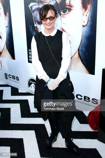 Actress Mary Jo Deschanel attends the Twin Peaks The Entire Mystery BluRay/DVD release party and screening held at the Vista Theatre on July 16 2014...