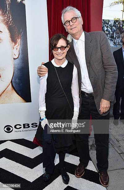 Actress Mary Jo Deshanel and director Caleb Deschanel arrive to The American Film Institute Presents Twin PeaksThe Entire Mystery BluRay/DVD Release...