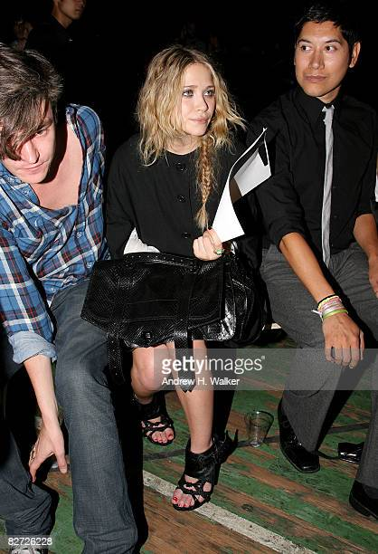 Actress Mary Kate Olsen attends the Proenza Schouler Spring 2009 fashion show during MercedesBenz Fashion Week at the Park Avenue Armory on September...