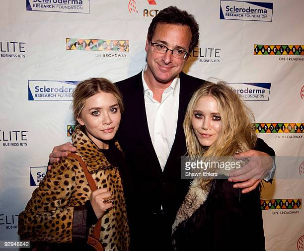 Actress Mary Kate Olsen comedian Bob Saget and Ashley Olsen attend Cool Comedy Hot Cuisine 2009 Benefiting The Scleroderma Research Foundation at...