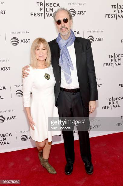 Actress Mary Kay Place and director Kent Jones attend a screening of Diane during the 2018 Tribeca Film Festival at SVA Theatre on April 22 2018 in...
