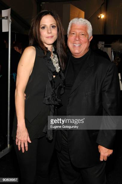 Actress Mary Louise Parker and designer Dennis Basso attend the Dennis Basso Spring 2010 during MercedesBenz Fashion Week at Bryant Park on September...