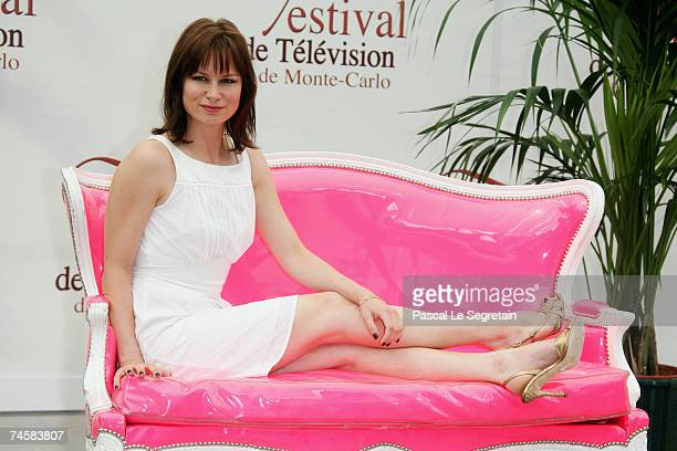 Actress Mary Lynn Rajskub attends a photocall promoting the television serie '24' on the third day of the 2007 Monte Carlo Television Festival held...