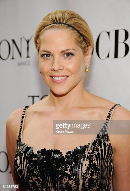 Actress Mary McCormack attends the 62nd Annual Tony Awards at Radio City Music Hall on June 15 2008 in New York City