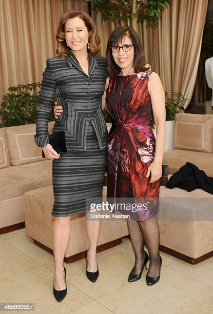 Actress Mary McDonnell and makeup artist Robin Siegel attend the Dior Beauty Operation Smile Luncheon at Sunset Tower on January 8 2014 in West...
