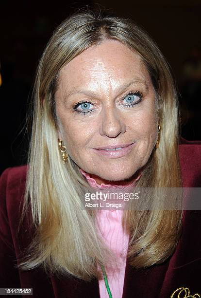 Actress Mary Stavin attends The Hollywood Show held at The Westin Los Angeles Airport Hotel on Saturday October 5 2013 in Los Angeles California