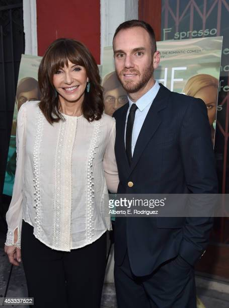 Actress Mary Steenburgen and director Charlie McDowell arrive to the premiere of RADIUSTWC's The One I Love at the Vista Theatre on August 7 2014 in...