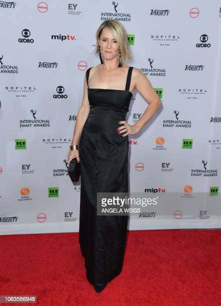 US actress Mary Stuart Masterson arrives for the 46th International Emmy awards gala in New York City on November 19 2018 The International Emmy...