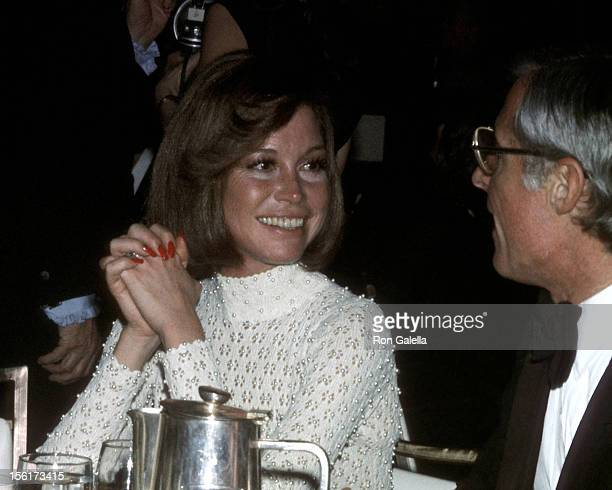 Actress Mary Tyler Moore and husband producer Grant Tinker attend the 26th Annual Directors Guild of America Awards on March 16 1974 at Beverly...