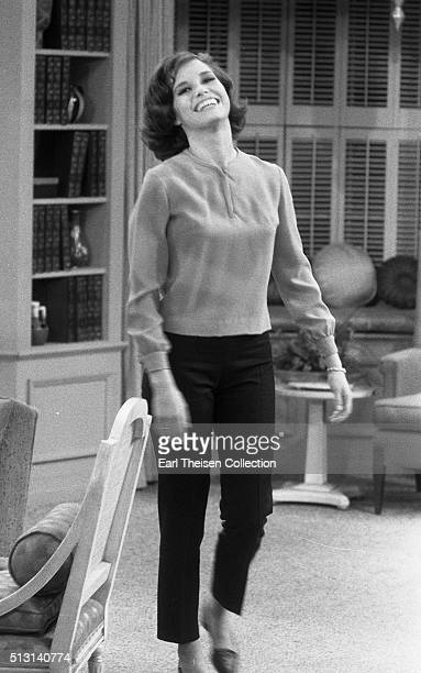 Actress Mary Tyler Moore in rehearsal for The Dick Van Dyke Show on December 2, 1963 in Los Angeles, California.