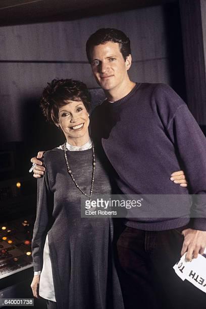 Actress Mary Tyler Moore with Dan Mathews of PETA in New York City on April 1 1996