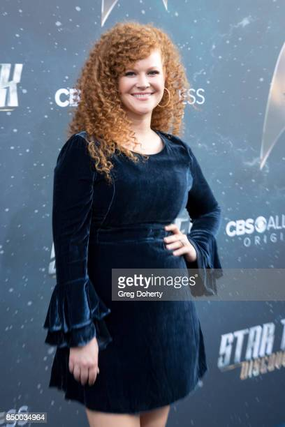 Actress Mary Wiseman arrives for the Premiere Of CBS's 'Star Trek Discovery' at The Cinerama Dome on September 19 2017 in Los Angeles California