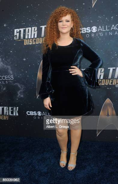 Actress Mary Wiseman arrives for the Premiere Of CBS's 'Star Trek Discovery' held at The Cinerama Dome on September 19 2017 in Los Angeles California