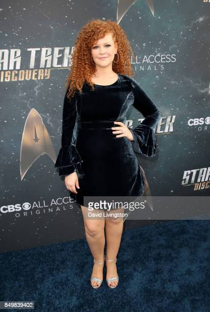 Actress Mary Wiseman attends the premiere of CBS's 'Star Trek Discovery' at The Cinerama Dome on September 19 2017 in Los Angeles California