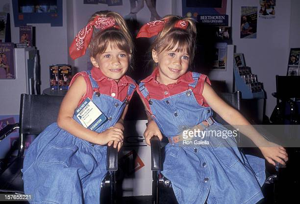 Actress MaryKate and Ashley Olsen attend the 12th Annual Video Software Dealers Association Convention and Expo on July 11 1993 at the Las Vegas...