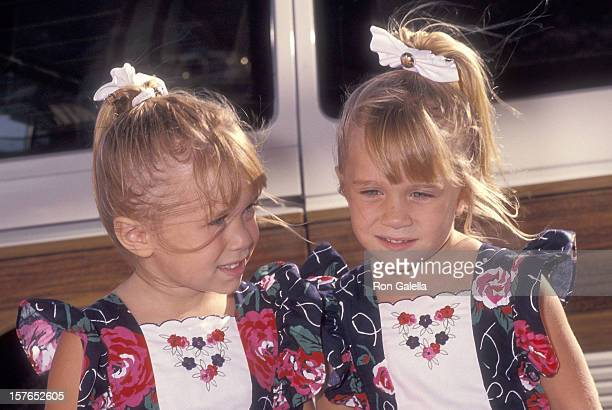 Actress MaryKate and Ashley Olsen attend the ABC Fall TCA Press Tour on July 21 1991 at the Univesal Hilton Hotel in Universal City California