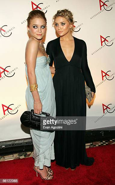 Actress MaryKate Olsen and Ashley Olsen arrive at the 9th Annual Ace Gala Awards at Cipriani's November 8 2005 in New York City