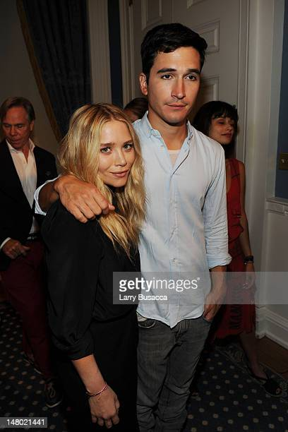 Actress MaryKate Olsen and designer Lazaro Hernandez attend the 2010 Fashion's Night Out KickOff press conference at City Hall Blue Room on August 11...