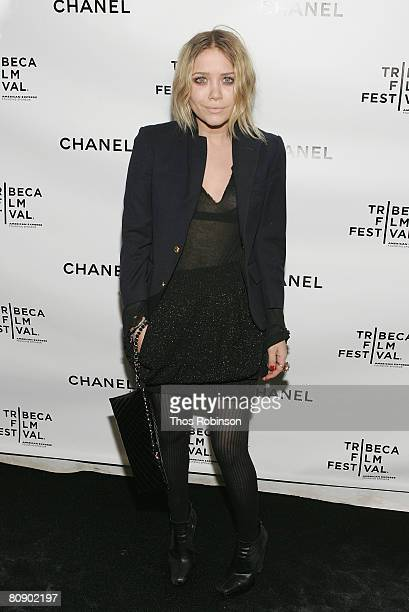 Actress MaryKate Olsen arrives at the Chanel Dinner held at the Greenwich Hotel during the 2008 Tribeca Film Festival on April 28 2008 in New York...