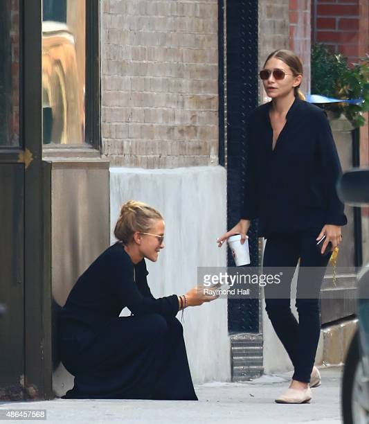 Actress MaryKate Olsen Ashley Olsen is seen in Soho on September 4 2015 in New York City
