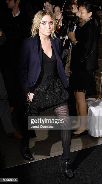 Actress MaryKate Olsen attends the 3rd Annual Chanel Dinner Party Honoring Tribeca Film Festival Artist at AGO at The Greenwich Hotel on April 28...