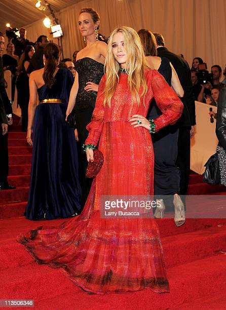 Actress MaryKate Olsen attends the Alexander McQueen Savage Beauty Costume Institute Gala at The Metropolitan Museum of Art on May 2 2011 in New York...