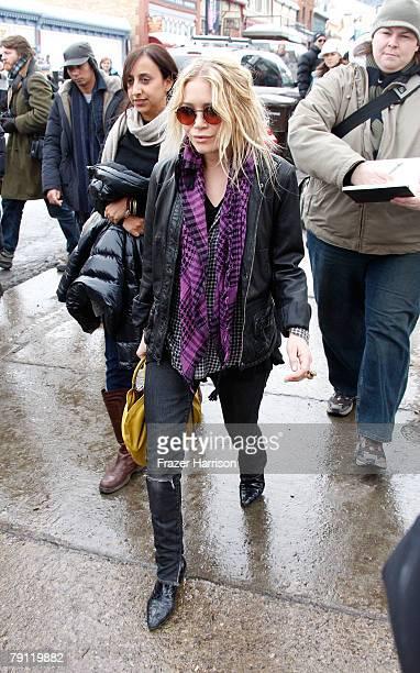 Actress MaryKate Olsen on the street during the 2008 Sundance Film Festival on January 19 2008 in Park City Utah
