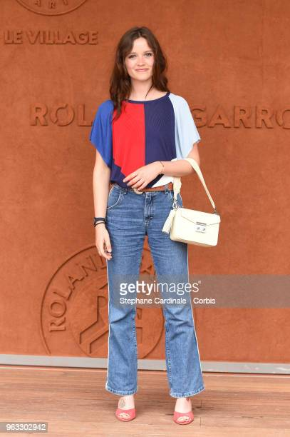 Actress Marylin Lima attends the 2018 French Open Day Two at Roland Garros on May 28 2018 in Paris France