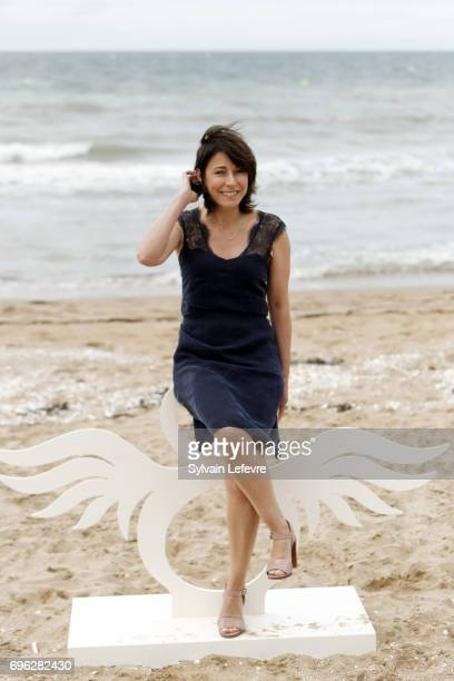 Actress Maryline Canto attends 'le ciel etoile audessus de ma tete' photocall during the 2nd day of 31st Cabourg Film Festival on June 15 2017 in...