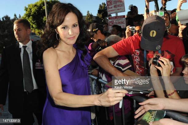 "Actress Mary-Louise Parker arrives at Premiere of Universal Pictures' ""Savages"" at Westwood Village on June 25, 2012 in Los Angeles, California."