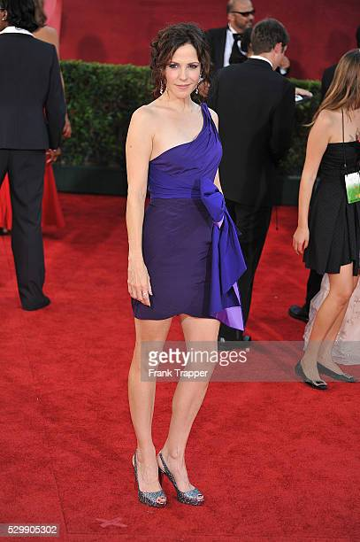 Actress Mary-Louise Parker arrives at the 61st Primetime Emmy Awards held at the Nokia Theatre.