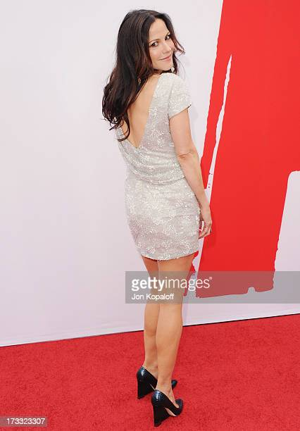 """Actress Mary-Louise Parker arrives at the Los Angeles Premiere """"Red 2"""" at Westwood Village on July 11, 2013 in Los Angeles, California."""