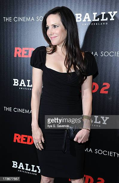 "Actress Mary-Louise Parker attends The Cinema Society And Bally Host A Screening Of Summit Entertainment's ""Red 2"" at The Museum of Modern Art on..."