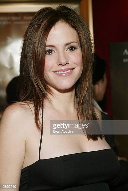 Actress MaryLouise Parker attends the HBO FILMS Premiere of Angels In America at The Ziegfeld Theater November 04 2003 in New York City